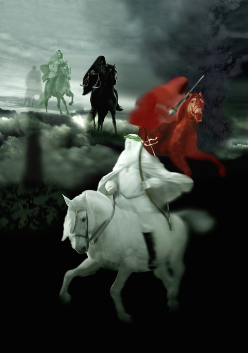 Revelation chapter 6: 1 to 8 - 'The Four Horsemen of the Apocalypse'